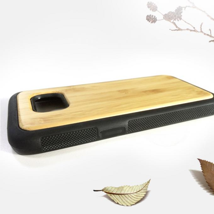Samsung S7 Wood Cell Phone Case , Bamboo Texture Wooden Phone Cover