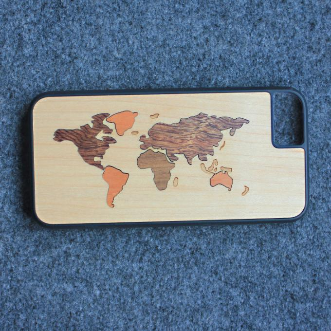 Craved Light Weight TPU Apple iPhone Wood Case Custom Design Supported