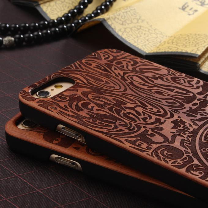 Real Solid Wood Grain iPhone 7 Case with Hard Crafted PC Material